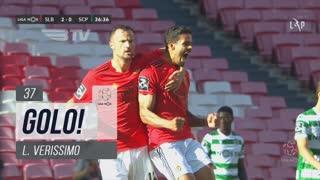 GOLO! SL Benfica, L. Verissimo aos 37', SL Benfica 3-0 Sporting CP