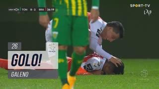 GOLO! SC Braga, Galeno aos 26', CD Tondela 0-2 SC Braga