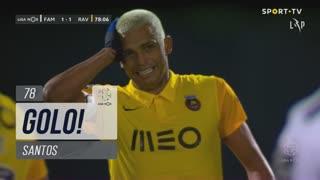 GOLO! Rio Ave FC, Santos aos 78', FC Famalicão 1-1 Rio Ave FC