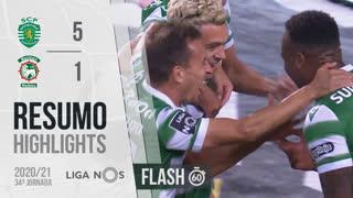 I Liga (34ªJ): Resumo Flash Sporting CP 5-1 Marítimo M.