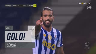 GOLO! FC Porto, Sérgio aos 45'+1', FC Porto 1-1 SC Braga