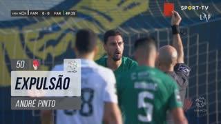 SC Farense, Expulsão, André Pinto aos 50'
