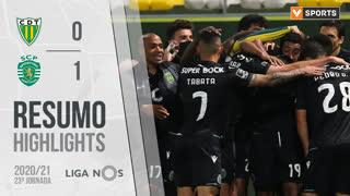 Liga NOS (23ªJ): Resumo CD Tondela 0-1 Sporting CP