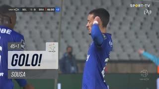 GOLO! Belenenses SAD, Sousa aos 45'+1', Belenenses SAD 2-0 SC Braga