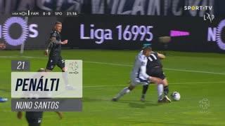 Sporting CP, Penálti, Nuno Santos aos 21'