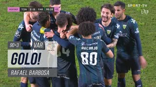 GOLO! CD Tondela, Rafael Barbosa aos 90'+3', CD Tondela 2-0 SC Farense