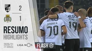Liga NOS (21ªJ): Resumo Flash Vitória SC 2-1 Boavista FC