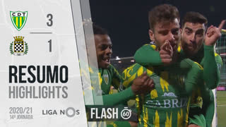 I Liga (14ªJ): Resumo Flash CD Tondela 3-1 Boavista FC