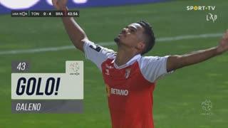 GOLO! SC Braga, Galeno aos 43', CD Tondela 0-4 SC Braga