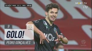 GOLO! Sporting CP, Pedro Gonçalves aos 9', Marítimo M. 0-1 Sporting CP