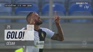 GOLO! SC Farense, César aos 25', SC Farense 2-0 FC Famalicão