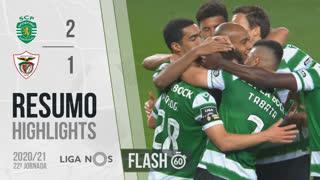 Liga NOS (22ªJ): Resumo Flash Sporting CP 2-1 Santa Clara