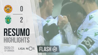 Liga NOS (13ªJ): Resumo Flash CD Nacional 0-2 Sporting CP