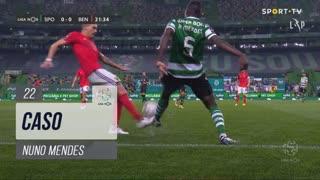 Sporting CP, Caso, Nuno Mendes aos 22'