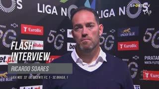 """Ricardo Soares: """"Os meus jogadores foram bravos"""""""