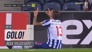 GOLO! FC Porto, Alex Telles aos 45'+4', FC Porto 2-1 SC Braga