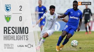Liga NOS (15ªJ): Resumo Belenenses SAD 2-0 CD Tondela