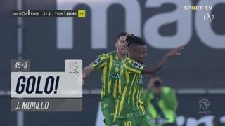 GOLO! CD Tondela, J. Murillo aos 45'+3', FC Famalicão 2-2 CD Tondela