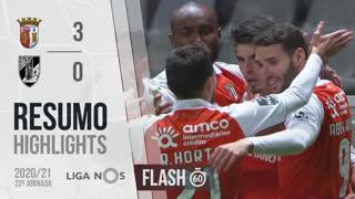 Liga NOS (22ªJ): Resumo Flash SC Braga 3-0 Vitória SC