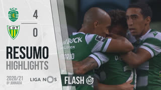 I Liga (6ªJ): Resumo Flash Sporting CP 4-0 CD Tondela