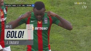GOLO! Marítimo M., J.Tagueu aos 90'+3', Marítimo M. 1-0 Belenenses SAD