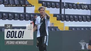 GOLO! SC Farense, Pedro Henrique aos 34', SC Farense 1-1 SC Braga