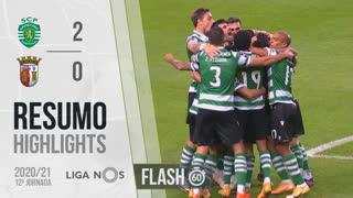 Liga NOS (12ªJ): Resumo Flash Sporting CP 2-0 SC Braga