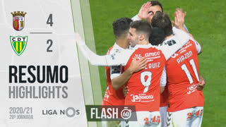 I Liga (20ªJ): Resumo Flash SC Braga 4-2 CD Tondela