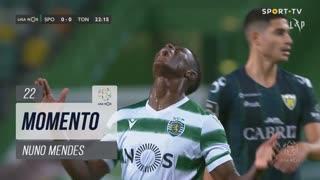 Sporting CP, Jogada, Nuno Mendes aos 22'