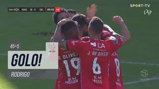 GOLO! Gil Vicente FC, Rodrigo aos 45'+5', CD Nacional 0-1 Gil Vicente FC