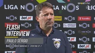 Paulo Sérgio assume responsabilidade pela má entrada em jogo