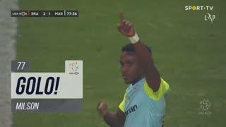 GOLO! Marítimo M., Milson aos 77', SC Braga 2-1 Marítimo M.