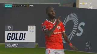 GOLO! Santa Clara, Allano aos 10', Santa Clara 1-0 FC P.Ferreira