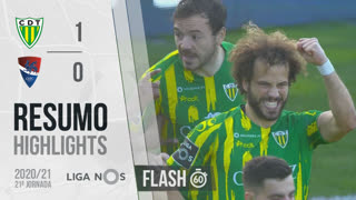 Liga NOS (21ªJ): Resumo Flash CD Tondela 1-0 Gil Vicente FC
