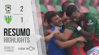 I Liga (2ªJ): Resumo Marítimo M. 2-1 CD Tondela