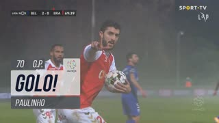 GOLO! SC Braga, Paulinho aos 70', Belenenses SAD 2-1 SC Braga