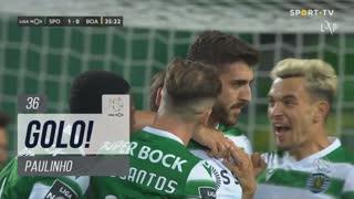 GOLO! Sporting CP, Paulinho aos 36', Sporting CP 1-0 Boavista FC