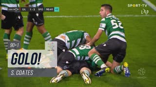 GOLO! Sporting CP, S. Coates aos 90'+1', Gil Vicente FC 1-2 Sporting CP