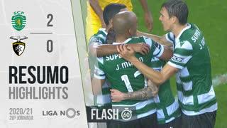 I Liga (20ªJ): Resumo Flash Sporting CP 2-0 Portimonense