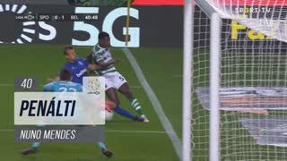 Sporting CP, Penálti, Nuno Mendes aos 40'