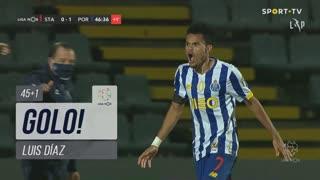 GOLO! FC Porto, Luis Díaz aos 45'+1', Santa Clara 0-1 FC Porto