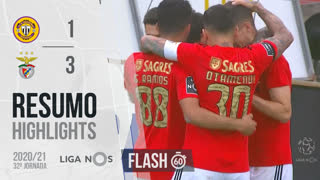 Liga NOS (32ªJ): Resumo Flash CD Nacional 1-3 SL Benfica