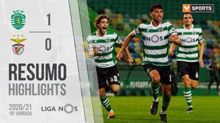 Liga NOS (16ªJ): Resumo Sporting CP 1-0 SL Benfica