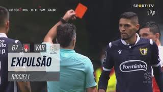 FC Famalicão, Expulsão, Riccieli aos 67'
