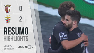 Liga NOS (24ªJ): Resumo SC Braga 0-2 SL Benfica