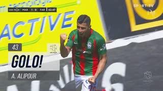 GOLO! Marítimo M., A. Alipour aos 43', Marítimo M. 1-0 SC Farense