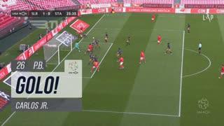 GOLO! SL Benfica, Carlos Jr. (p.b.) aos 26', SL Benfica 1-0 Santa Clara