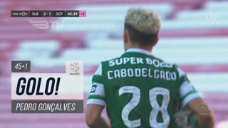 GOLO! Sporting CP, Pedro Gonçalves aos 45'+1', SL Benfica 3-1 Sporting CP
