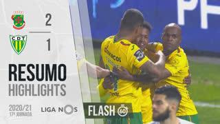 Liga NOS (17ªJ): Resumo Flash FC P.Ferreira 2-1 CD Tondela
