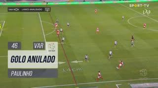 SC Braga, Golo Anulado, Paulinho aos 46'
